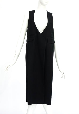 Rosseta Getty Black Long Vest 0