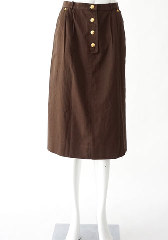Celine Brown Vintage Skirt Size 42