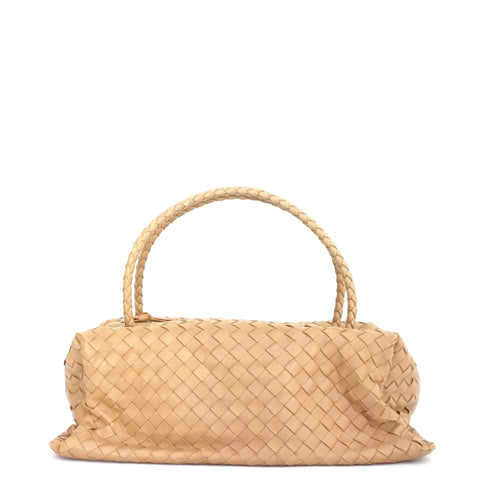 Bottega Veneta Mini Intercciato Top Handle Bag