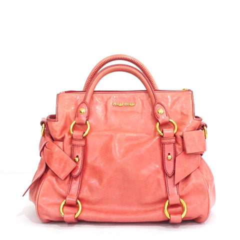 Miu Miu Rose Mini Vitello Bow Satchel GHW