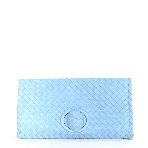 Bottega Veneta Blue Clutch