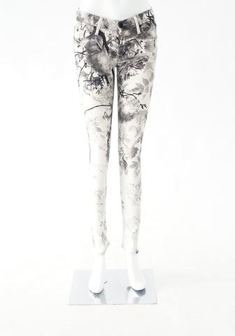 Mother Flower Printed Jeans