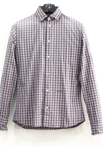 Dsquared Blue Orange Checked Shirt