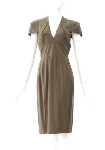 Roland Mouret Brown Dress US 4