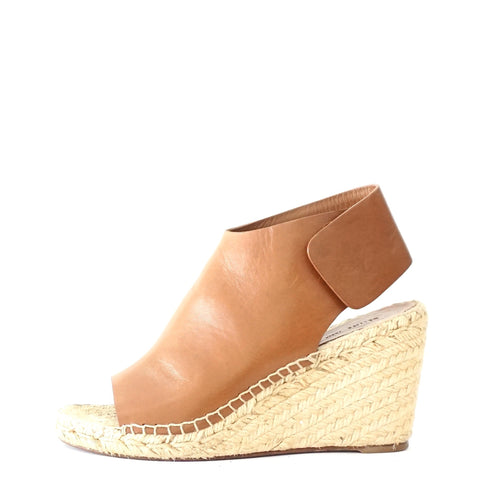 Celine Brown Wedge Espadrilles Sandals 38