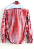 Junya Watanabe Comme des Garcons Red and Blue Checked Shirt