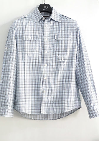 Michael Kors Blue Checked Shirt