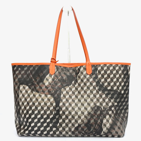 Loup Noir Shopper Large Cheval Black/Brown-Orange