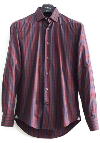 Lanvin Stripe Blue Red Shirt