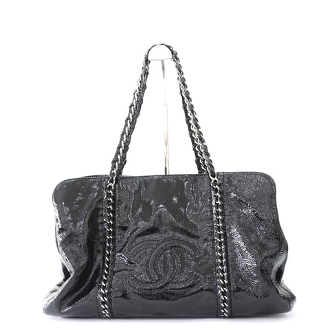 Chanel Luxe Ligne Black Patent Bag