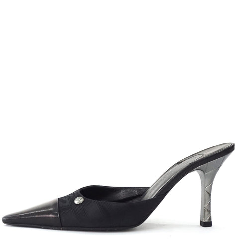 Chanel Pointy Black Sandals 38.5