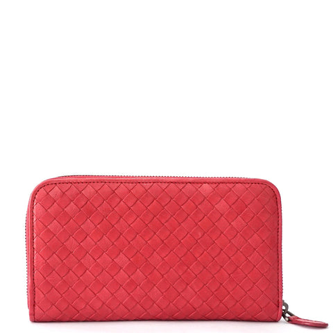 Bottega Veneta Pink Long Zipper Wallet