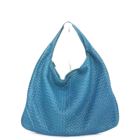 Bottega Veneta Large Intrecciato Blue Hobo Bag