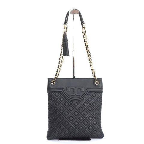 Tory Burch Marion Quilted Black Chain Bag