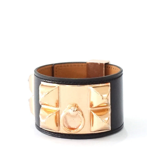 Hermes CDC Brand New Black Rose Gold Hardware