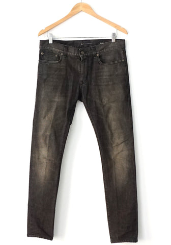 Saint Laurent Grey Washed Skinny Jeans