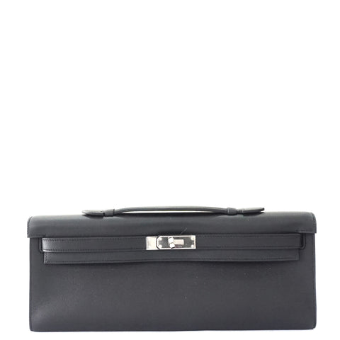 Brand New Hermes Kelly Cut Black Swift PHW