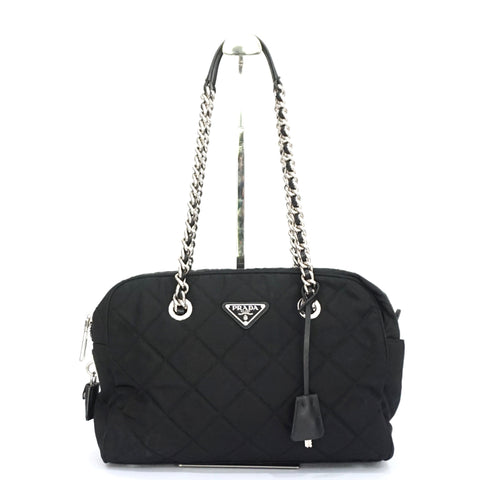 Prada Tessuto Impuntu Black Bag