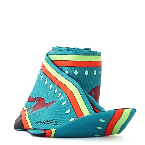 Hermes Twilly Turquoise Horse