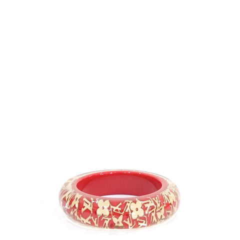 Louis Vuitton Red Inclusion Monogram Bangles