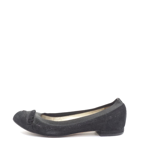 Chanel Black Suede Flats 35