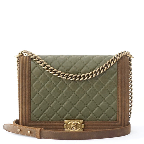 Chanel Boy Large Olive