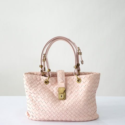 Bottega Veneta Pink Small Capri Bag