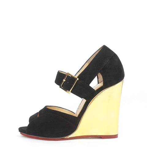 Charlotte Olympia Marcella Suede Wedge Sandals 37