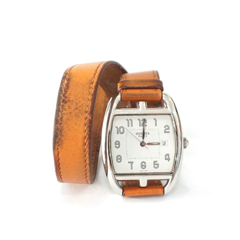 Hermes Watch Cape Cod Brown Barenia