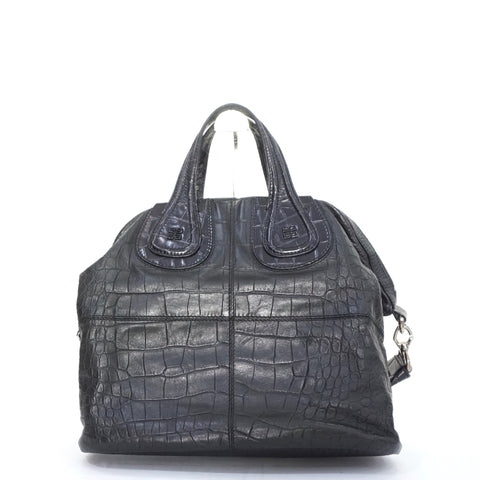 Givenchy Nightingale Black Croco Embossed