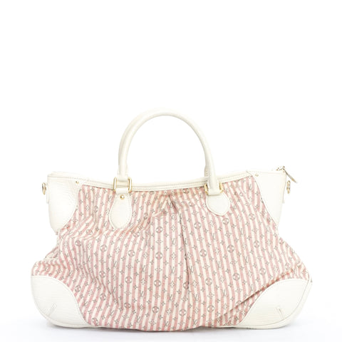 Louis Vuitton Pink and White Stripes Canvas Bag