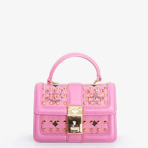MCM Pink Diamond Visetos Mini Satchel