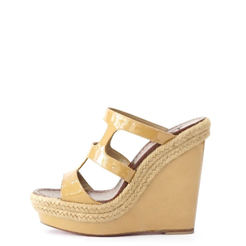 Christian Louboutin Light Brown Wedges 36
