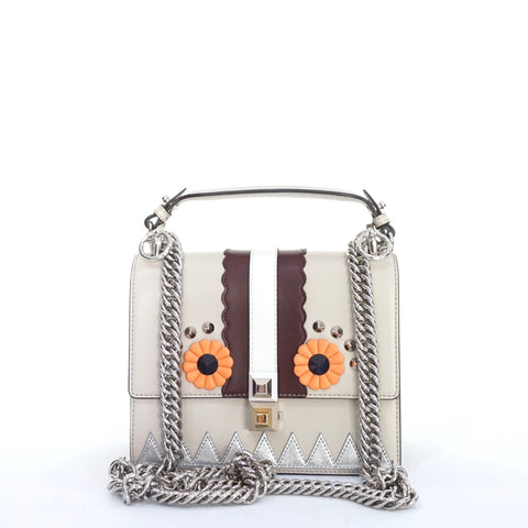Fendi Kan I Mini Grey Shoulder Bag
