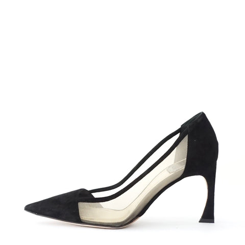 Christian Dior Black Suede Pointy Pumps 36