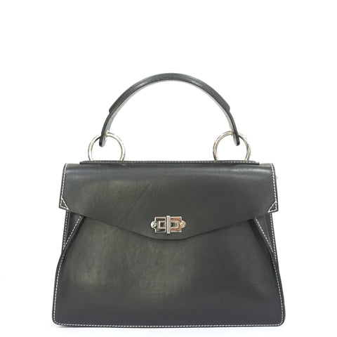 Proenza Schouler Black Medium Hava Top Handle Bag