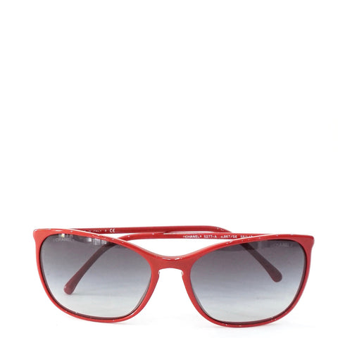 Chanel Red Frame Sunglasses