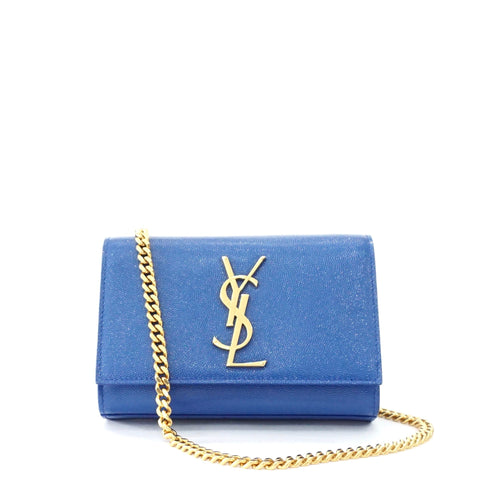 YSL Blue Evening Monogramme Bag