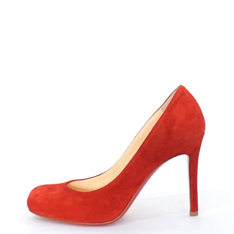 Christian Louboutin Red Suede Pumps 35