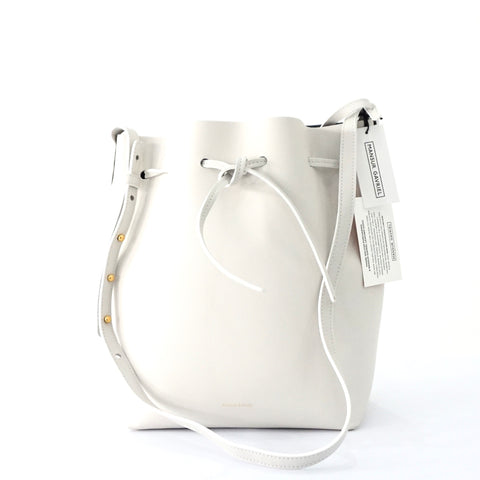 Brand New Mansur Gavriel White Bucket Bag