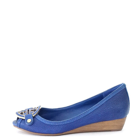 Tory Burch Blue Wedges 5M