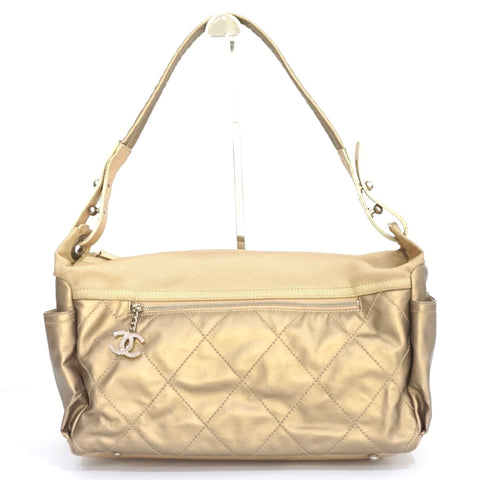 Chanel Gold Paris Biarritz Shoulder Bag