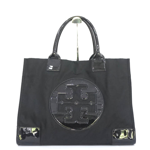 Tory Burch Black Nylon Ella Tote