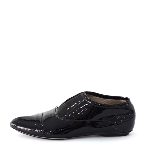 Calvin Klein Black Patent Loafers 37.5