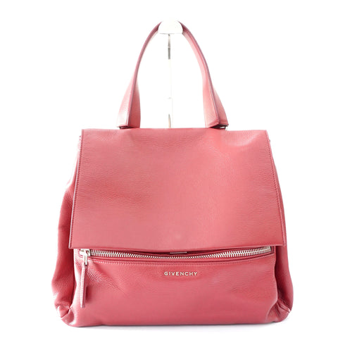 Givenchy Red Grained Leather Pure Medium Bag