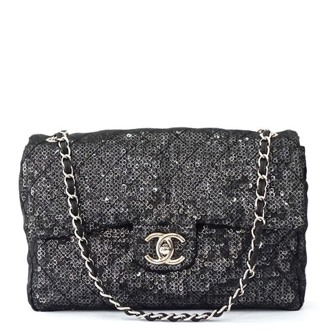 Chanel Hidden Sequined Limited Edition Maxi Flapbag
