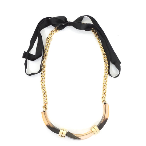 Marni Transparent Gold Chain Necklace