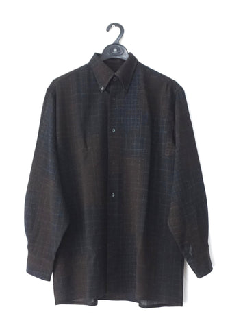 Hermes Men Black Wool Long-Sleeved Shirt 39
