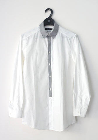 Dolce and Gabbana Men White Long-Sleeved Shirt 39
