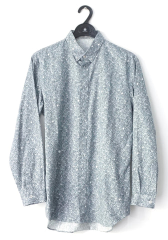 Dior Men Denim Pattern Long-Sleeved Shirt 39